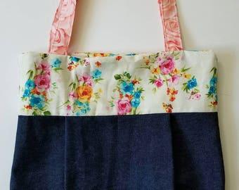 Floral Jean Handbag