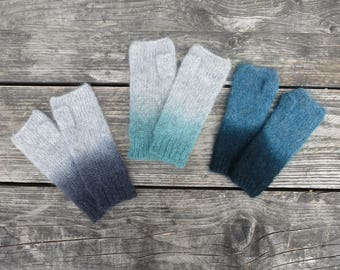 Bess Dip Dye Mohair Wristwarmer Gloves (in 3 colours)