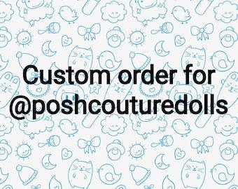 A custom chibi order for @poshcouturedolls on instagram