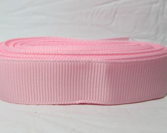 "Grosgrain ribbon 1"" pale pink sold by the yard"