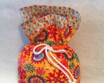 Drawstring Bag, Xmas Gift Bag, Xmas Fabric Bag, Xmas Design Fabric Bag, Modern Design Xmas Fabric Bag.