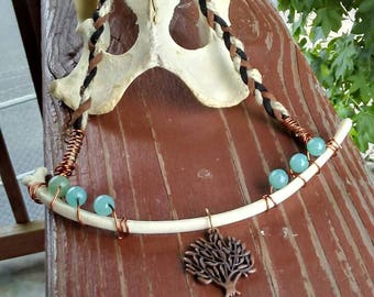 Braided Cord Rib Necklace