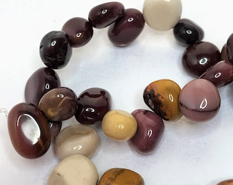 Mookaite Nuggets Multicolour Gemstone Beads 10mm x 18mm Brown Red Natural Stone Beads Jewellery Making LynnsGemSupplies