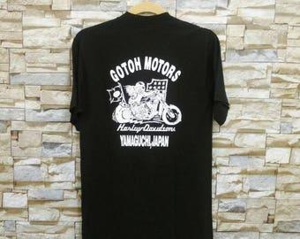Vintage Harley Davidson Shirt 90's Harley Davidson Panhead USA Made Motorcycle Biker Tee High Fashion Style Small