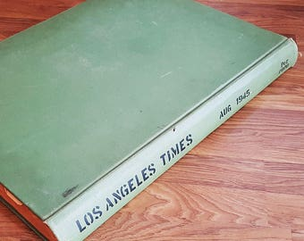 Library Newspaper Bound Archive Book, LA Times, August 1945