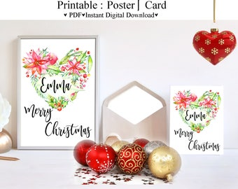 Wall Art, Digital art, Chirtsmas, printable art, Inspirationals, printable Gift cards, Christmas cards, Cute cards art-370