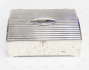 Vintage Godinger Silver Plate Jewelry Box, Godinger Trinket Box Jewelry Storage, Silver Jewelry Box, Jewellery Box, Goldinger Keepsake Box