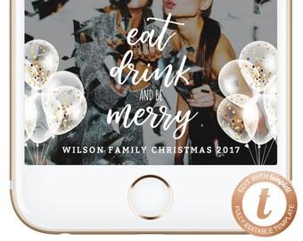 INSTANT DOWNLOAD Christmas Geofilter Snapchat Geofilters Christmas Snapchat Filter Holiday Party Snap Filter Winter Wonderland Snow Templett