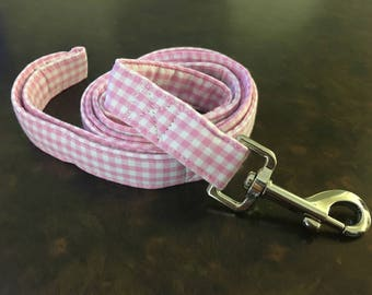 Dog Leash - Checkered Dog Leash - Pink Checkered Dog Leash - Fashion Dog Leash - Classy Dog Leash - White Dog Leash - Checkered Leash - Pink