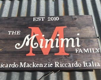 Personalized Weathered Wood Decor
