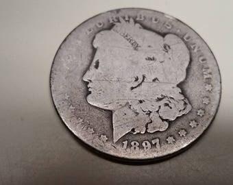 1897O Morgan Silver dollar,  #O649