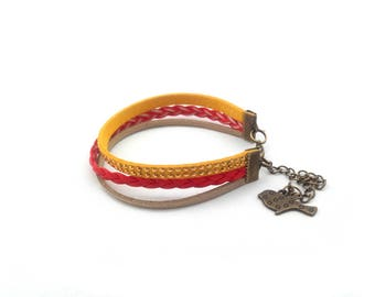 Bracelet multi-row woman
