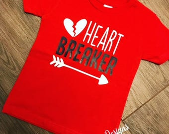 Heart Breaker Shirt | Boys Valentine Shirt | Toddler Valentine Shirt | Heart Breaker | Valentine's Outfit | Little Heart Breaker | Boy Shirt