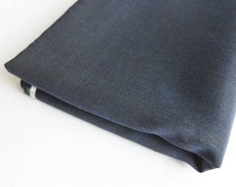 Blue mohair, worsted suiting