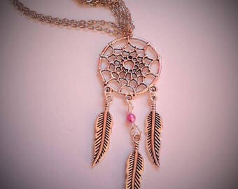dream catcher necklace and its Pearly purple