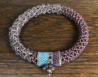 Purple Japanese Bangle Bracelet