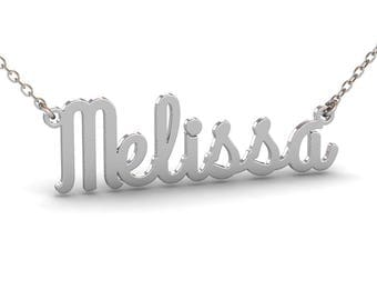 Silver Name Necklace, Personalized Name Necklace, Nameplate Necklace, Christmas Gift, Bridesmaid Gift, Baby Name Necklace