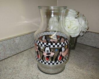 Vintage Walt Disney Goofy Glass Carafe