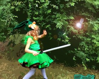 FREE SHIPPING Legend of Zelda Link tutu, Link shirt, Link outfit, Link cosplay, Link ensemble
