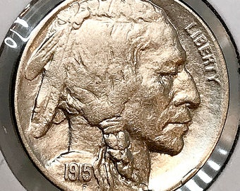 1915 D Buffalo Nickel - Choice BU / MS / Unc