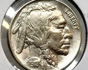 1918 P Buffalo Nickel - Choice BU / MS / UNC