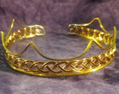 Gold SCA Baronial Coronet Red Celtic Crown