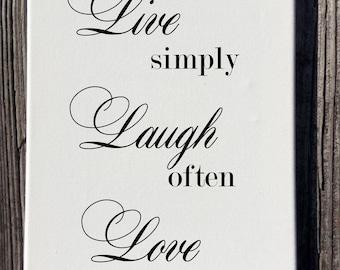 Live Laugh Love Canvas Wall Decor