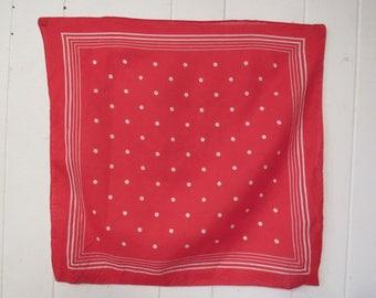 Vintage bandana, vintage workwear, vintage 1950s bandana, red bandana,