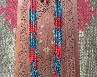 Old Vintage beaded necklace from Tibet