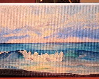 Beach Sunrise Oil Painting