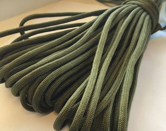 Paracord olive green, sold by the meter