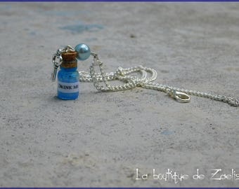 Pendant necklace vial Drink Me Alice in Wonderland country