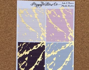 Cakes & Flowers Light Gold Marble Foiled Headers