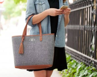 Townsend Tote, FREE PERSONALIZATION, Embroidered Purse, Monogrammed Purse, Townsend Monogrammed Purse, Shoulder Bag,