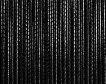 #52501-10 meters waxed polyester cord 2 mm black Korean