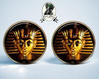 Mens earrings, Earrings Egypt, Tutankhamun Egyptian Pharaoh, Pharaoh Earrings, Ancient Egypt symbol sign Egyptian deity Egypt
