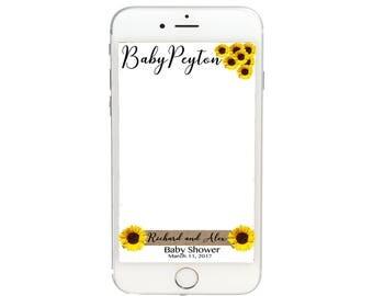 Sunflower Baby Shower Snapchat GeoFilter