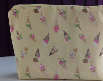 Ice cream makeup bag, cosmetics bag, toiletries bag
