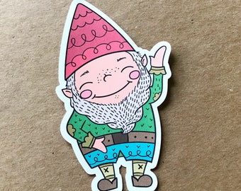 Gnarley the Gnome, Die Cut, Gnome, Travelers Notebook Supplies, Bookmark