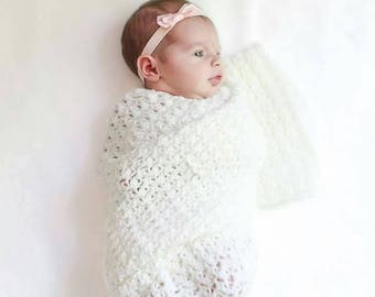 Newborn Crochet Wrap Photo Prop