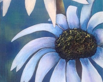 Sisters Marguerite, canvas Gallery 12/36, acrylic, bunch of daisies, mixed media, canvas, contemporary, timeless, by Anne