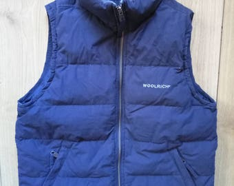 Woolrich Vintage Puffy Vest Womens Sleeveless Jacket Coat
