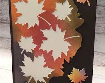 Friendship Card, Fall Card, Thanksgiving Card, Handmade Card, Autumn Leaves, Stampin' Up! Colorful Seasons