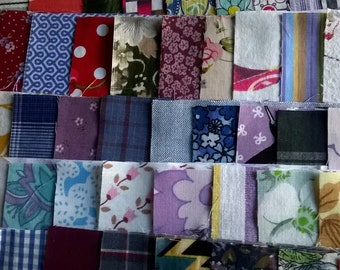50 x 5 inch mix of vintage retro new rotary cut charm patchwork squares all different patchwork applique craft
