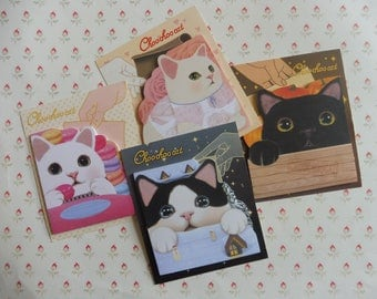 Memo pad Choo Chho Cat in 4 designs here are listed and numbered lists