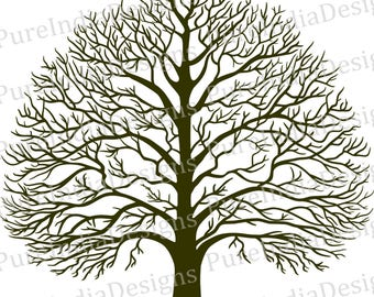 Tree Svg, Tree Of Wisdom, Tree Of Life, Snow Tree, DXF, Part 94