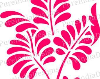 Fern Solo svg, Flower svg, Stencil Vector art, Cricut,Silhouette Cameo, instant download, Digital Cut,Print Files, Svg, DXF, EPS, Wall Decal