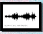Custom Music Soundwave Art Print Wedding Song Art 1st Anniversary Gift for Husband First Dance Sound Wave Wall Art Custom Song Print