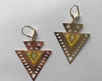 ∎ BERTILLE ∎ earrings - yellow tones