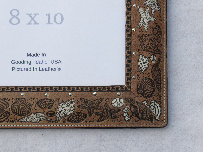8x10 leather photo frame beach picture frame seashell picture gallery photo gallery photo gallery photo jeuxipadfo Images